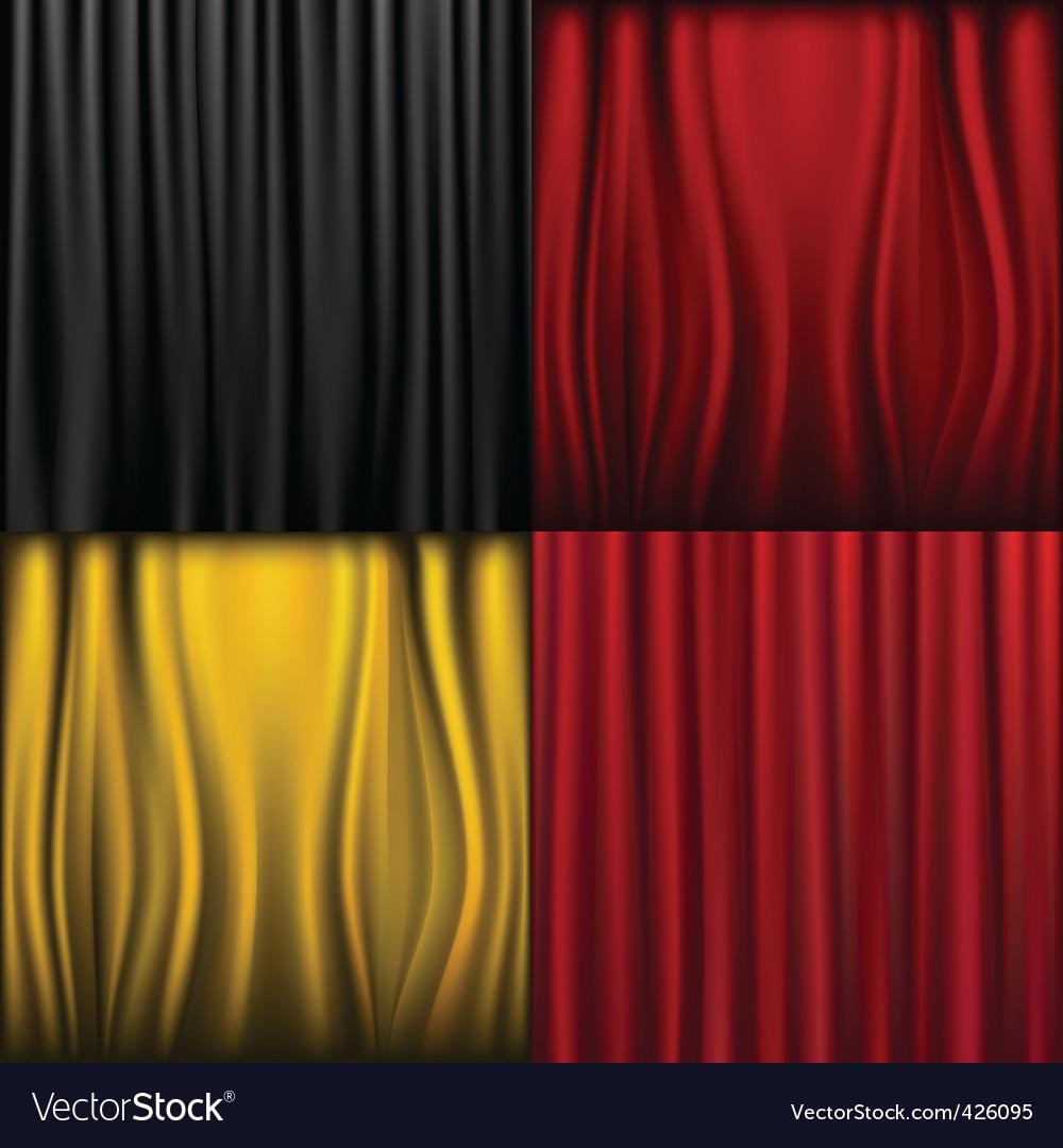 Silk curtains vector   Price: 1 Credit (USD $1)