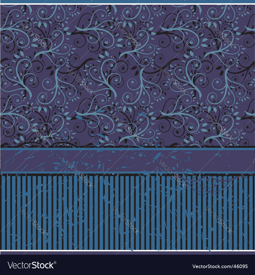 Vintage wallpaper old style vector | Price: 1 Credit (USD $1)