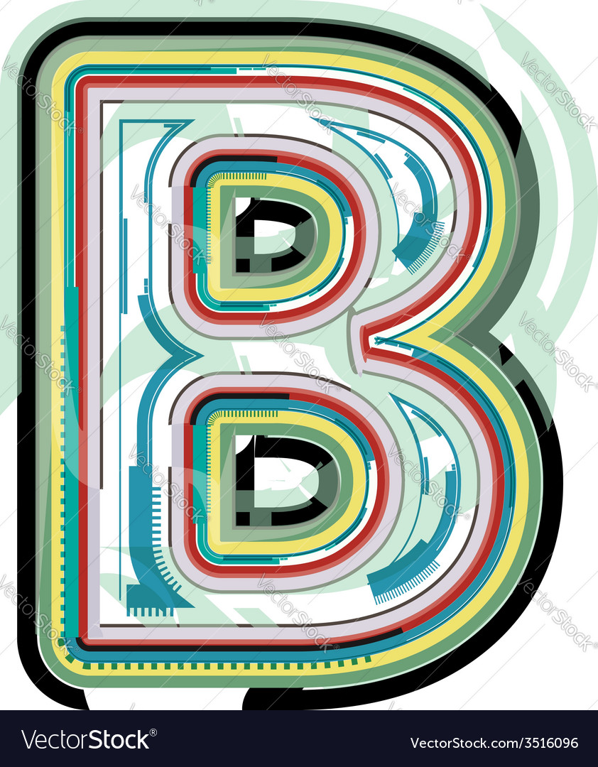 Abstract colorful letter b vector | Price: 1 Credit (USD $1)