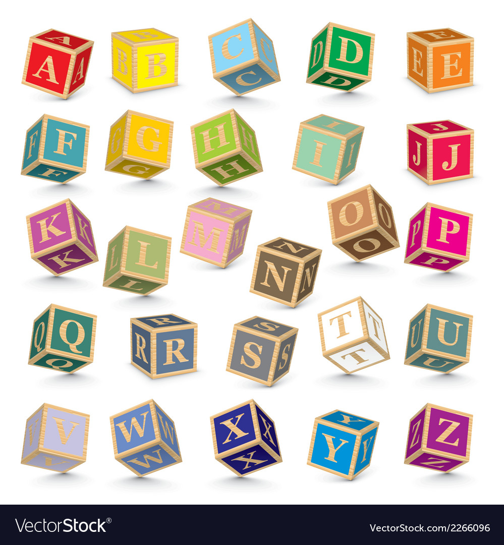 Alphabet blocks vector | Price: 1 Credit (USD $1)