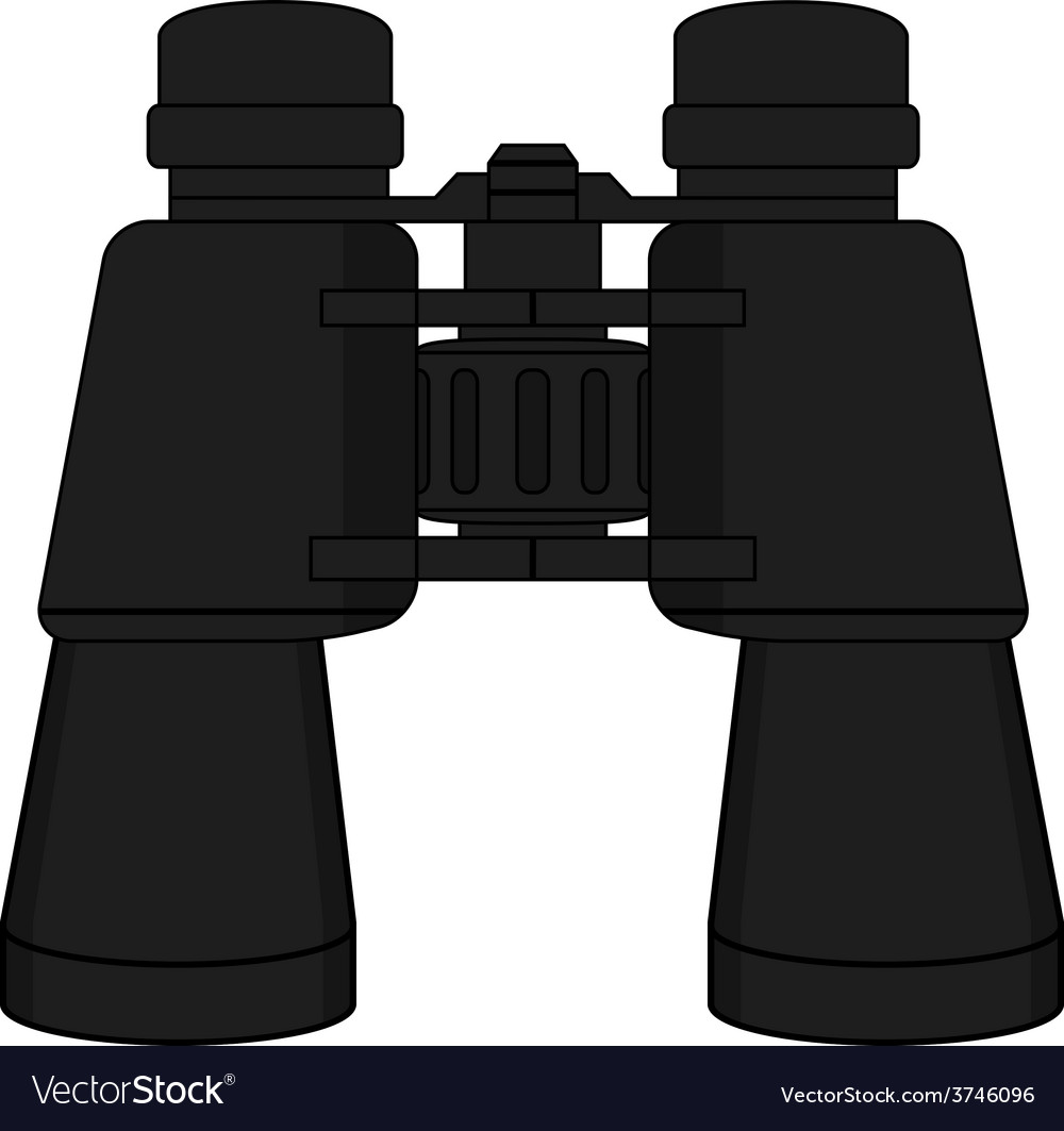 Binoculars icon color vector | Price: 1 Credit (USD $1)