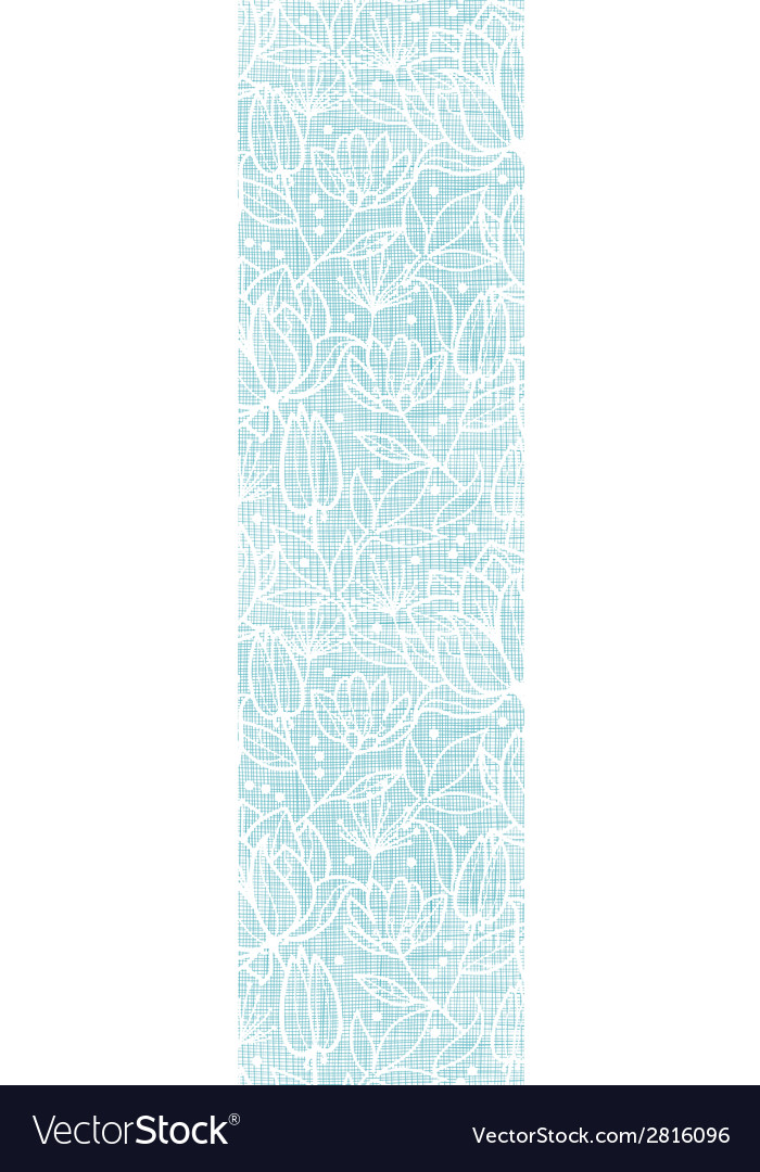Blue lace flowers textile vertical border seamless vector | Price: 1 Credit (USD $1)