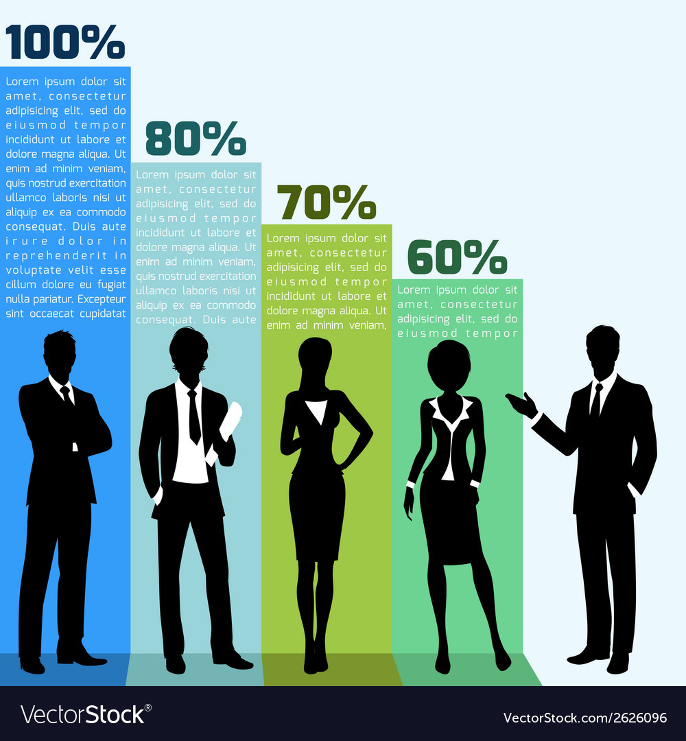 Business people infogrpahics vector | Price: 1 Credit (USD $1)