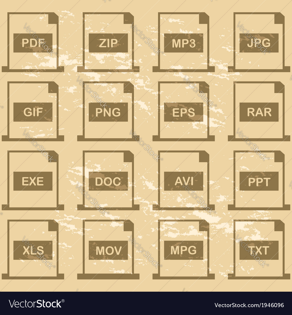 File extensions vector | Price: 1 Credit (USD $1)