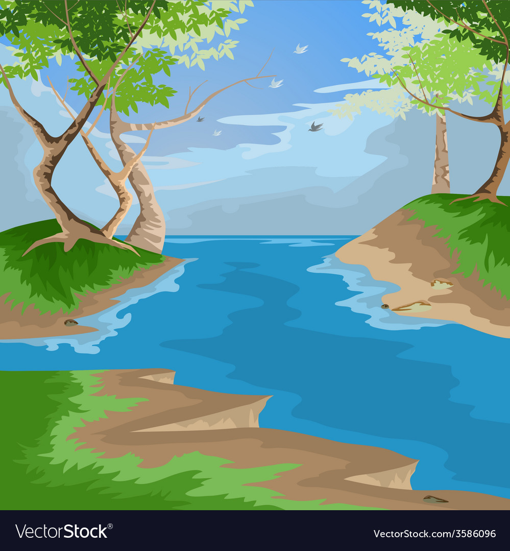 Forest scenic vector | Price: 1 Credit (USD $1)