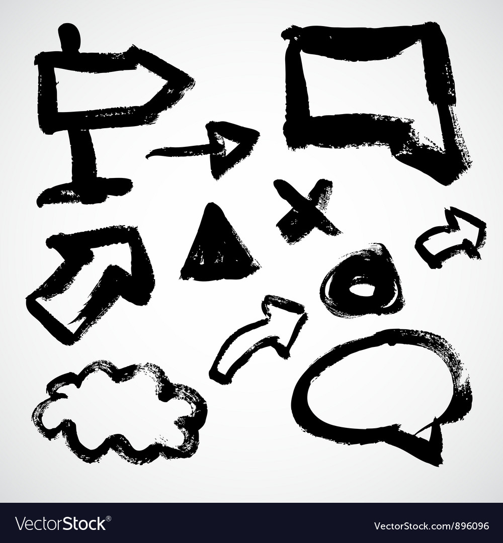 Grunge sketch of arrows and frames vector | Price: 1 Credit (USD $1)