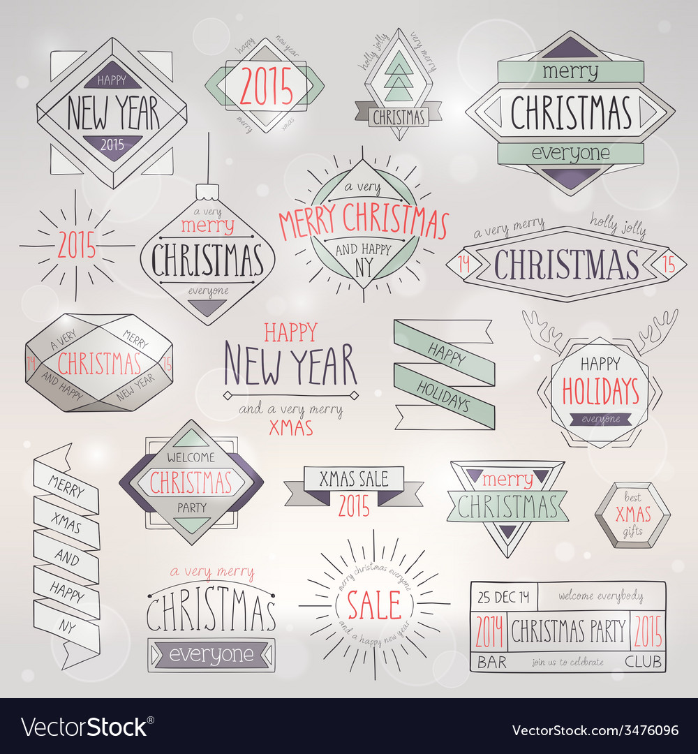 Hip xmas emblems vector | Price: 1 Credit (USD $1)