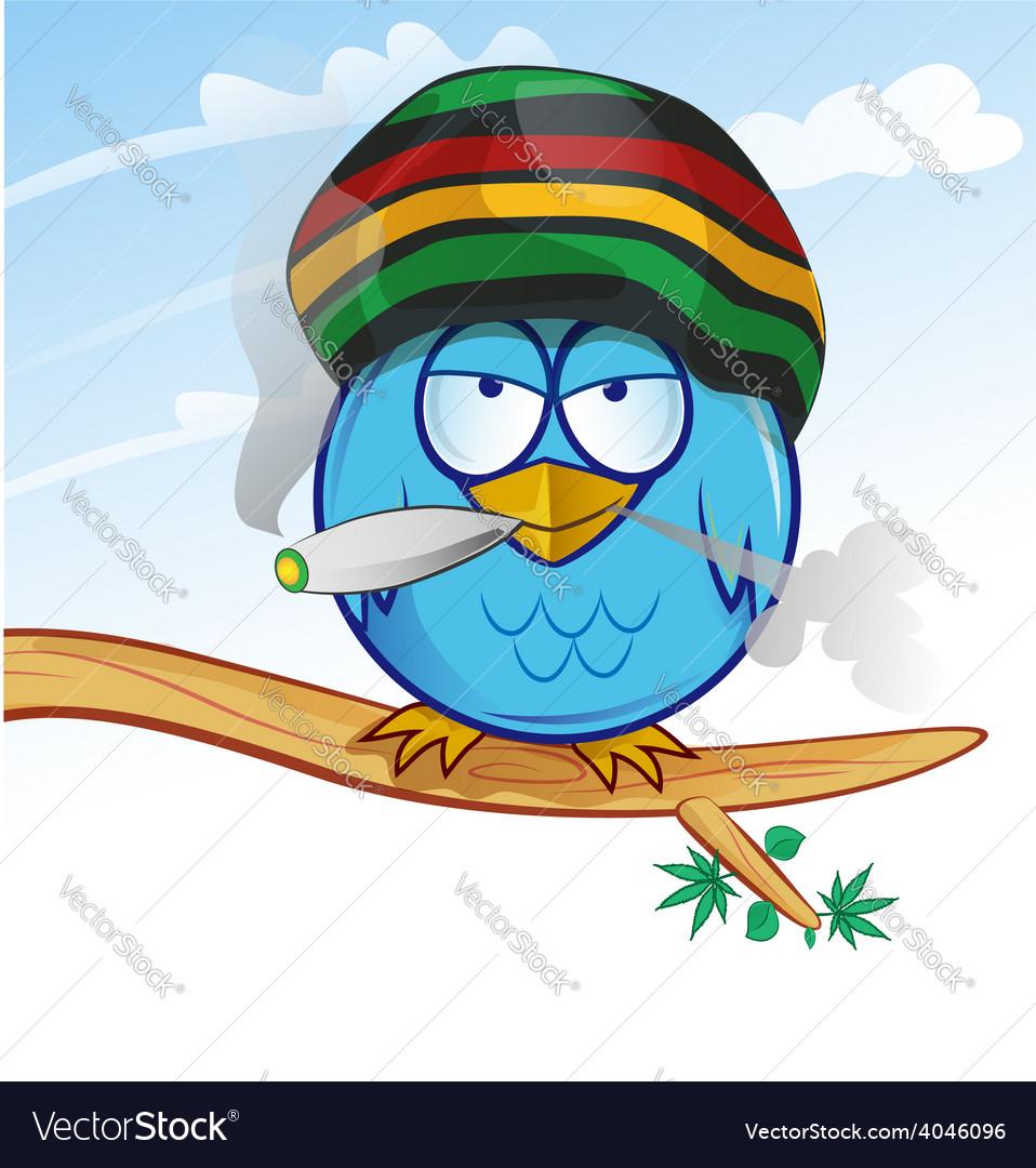 Jamaican owl cartoon vector | Price: 1 Credit (USD $1)