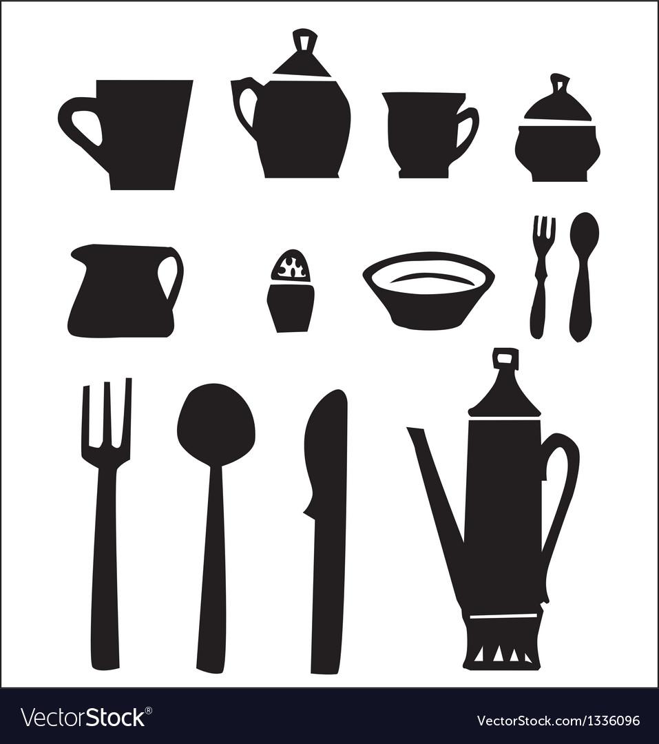 Kitchen utensils set vector | Price: 1 Credit (USD $1)
