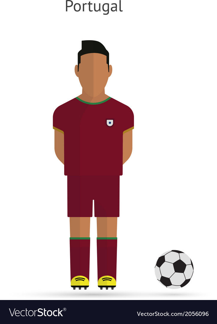 National football player portugal soccer team vector | Price: 1 Credit (USD $1)