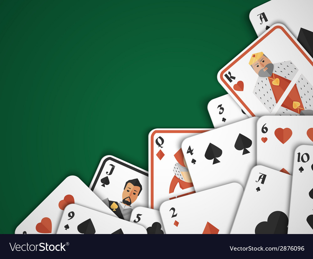 Playing cards background vector | Price: 1 Credit (USD $1)