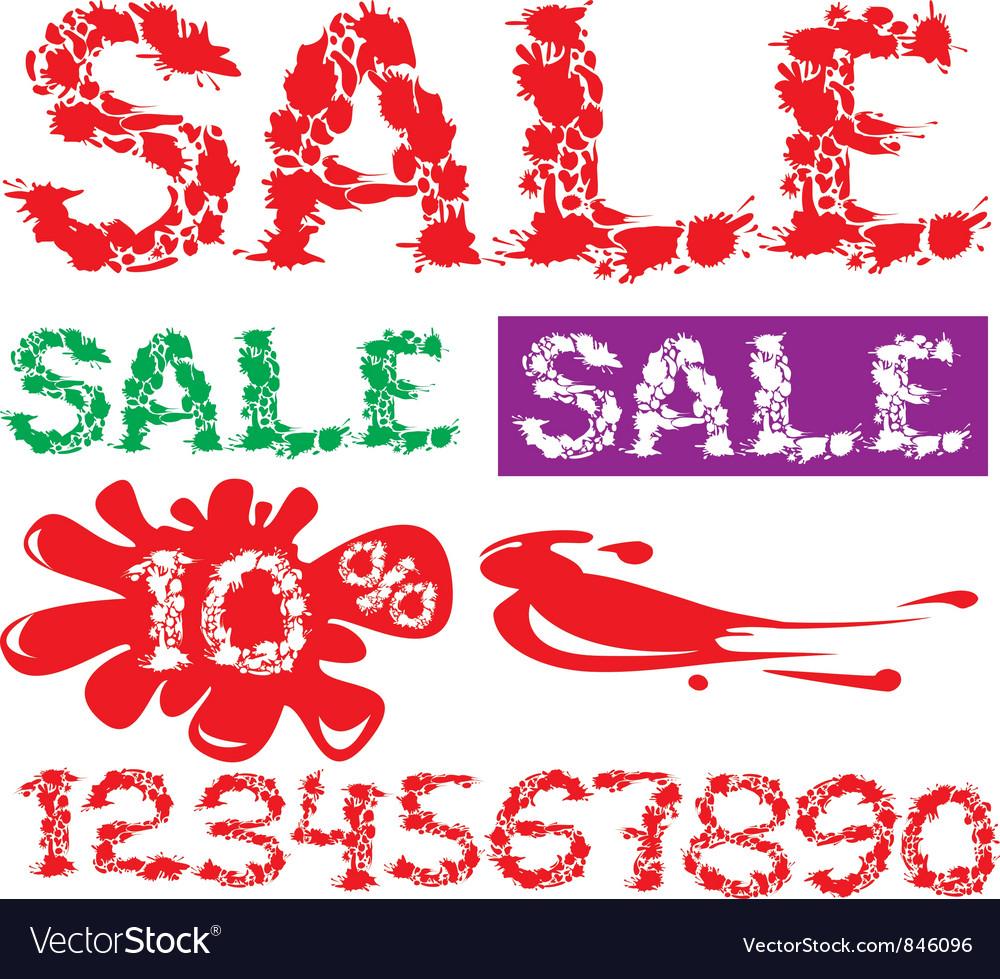 Symbol sale numerals vector   Price: 1 Credit (USD $1)