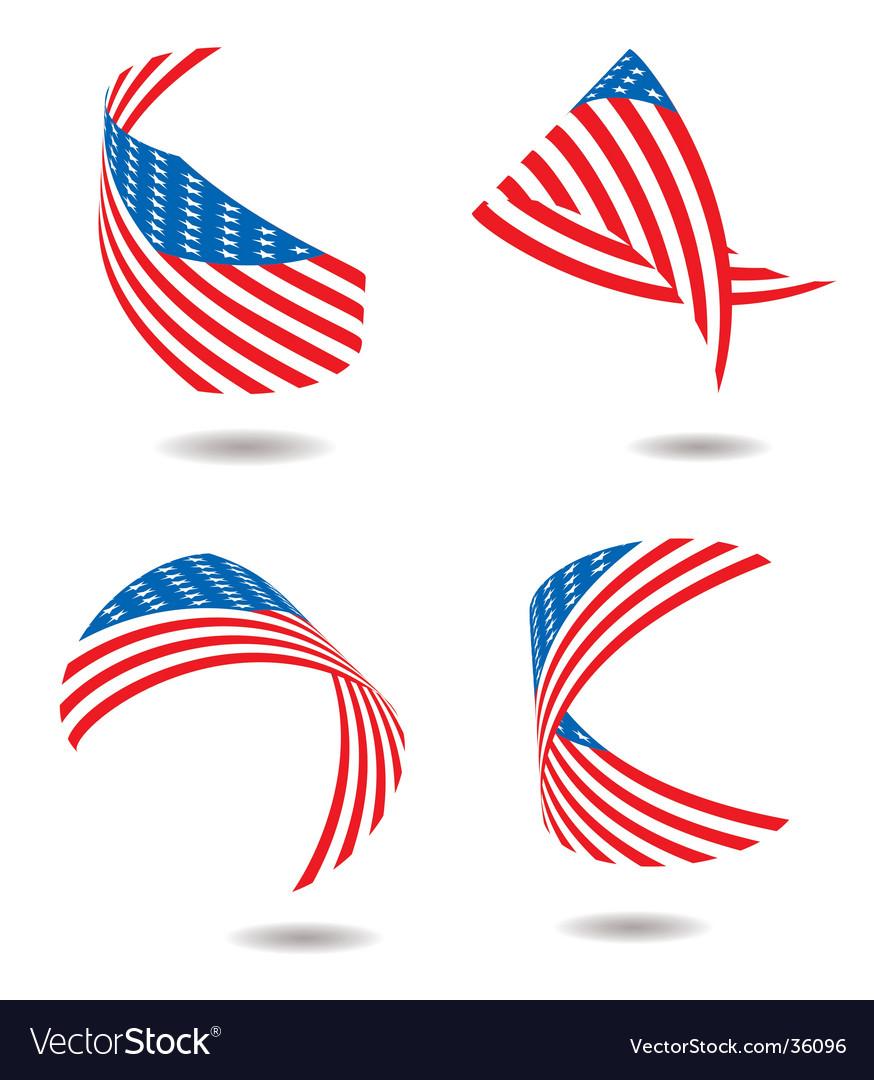 Us flag ribbon vector   Price: 1 Credit (USD $1)