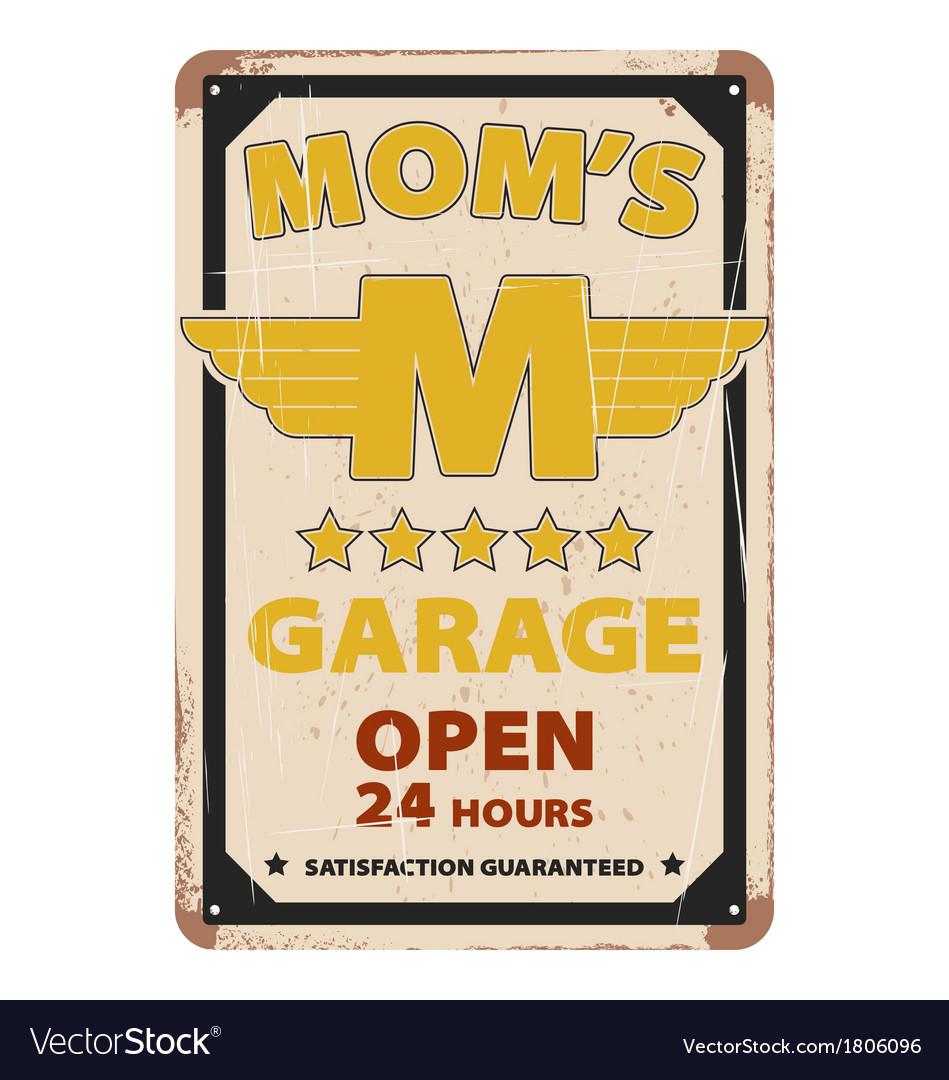 Vintage garage advertisement poster design vector | Price: 1 Credit (USD $1)