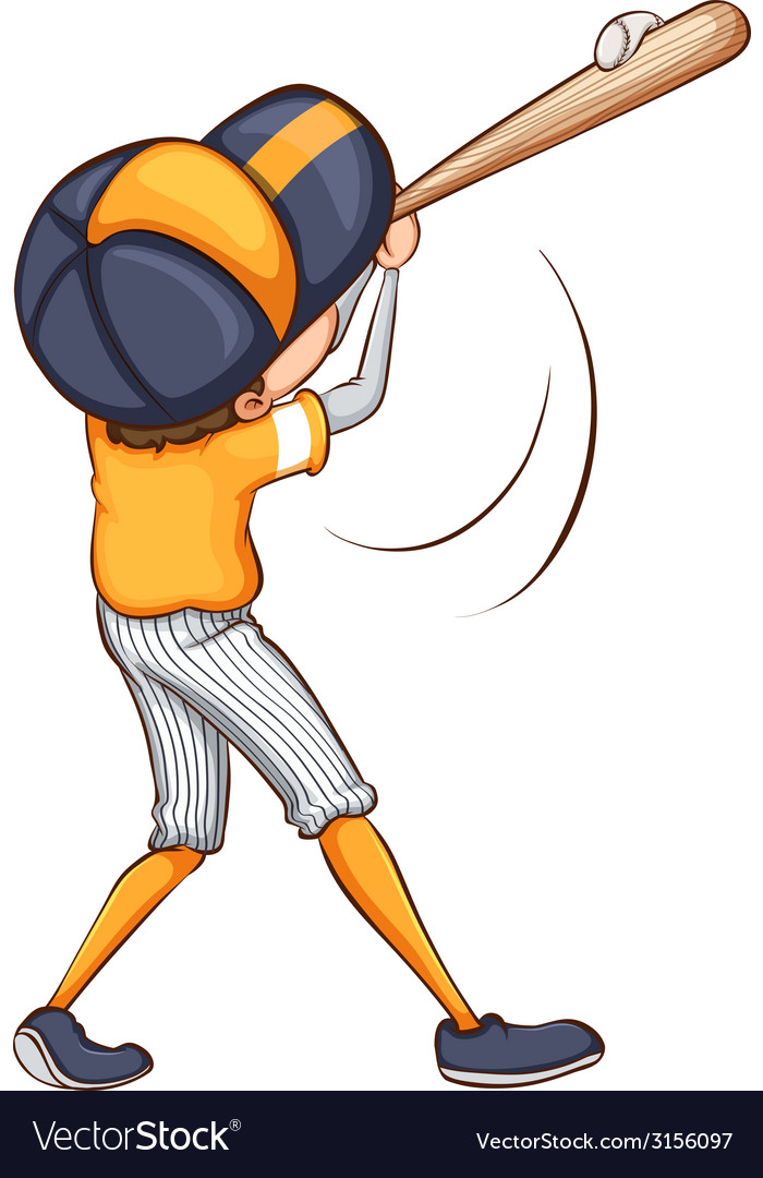 A drawing of a baseball player vector | Price: 1 Credit (USD $1)