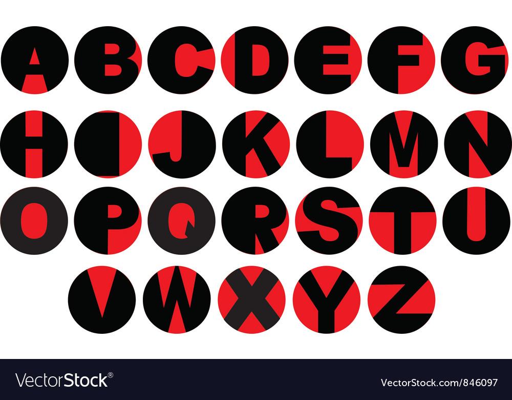 Alphabet - vinyl record letters vector | Price: 1 Credit (USD $1)