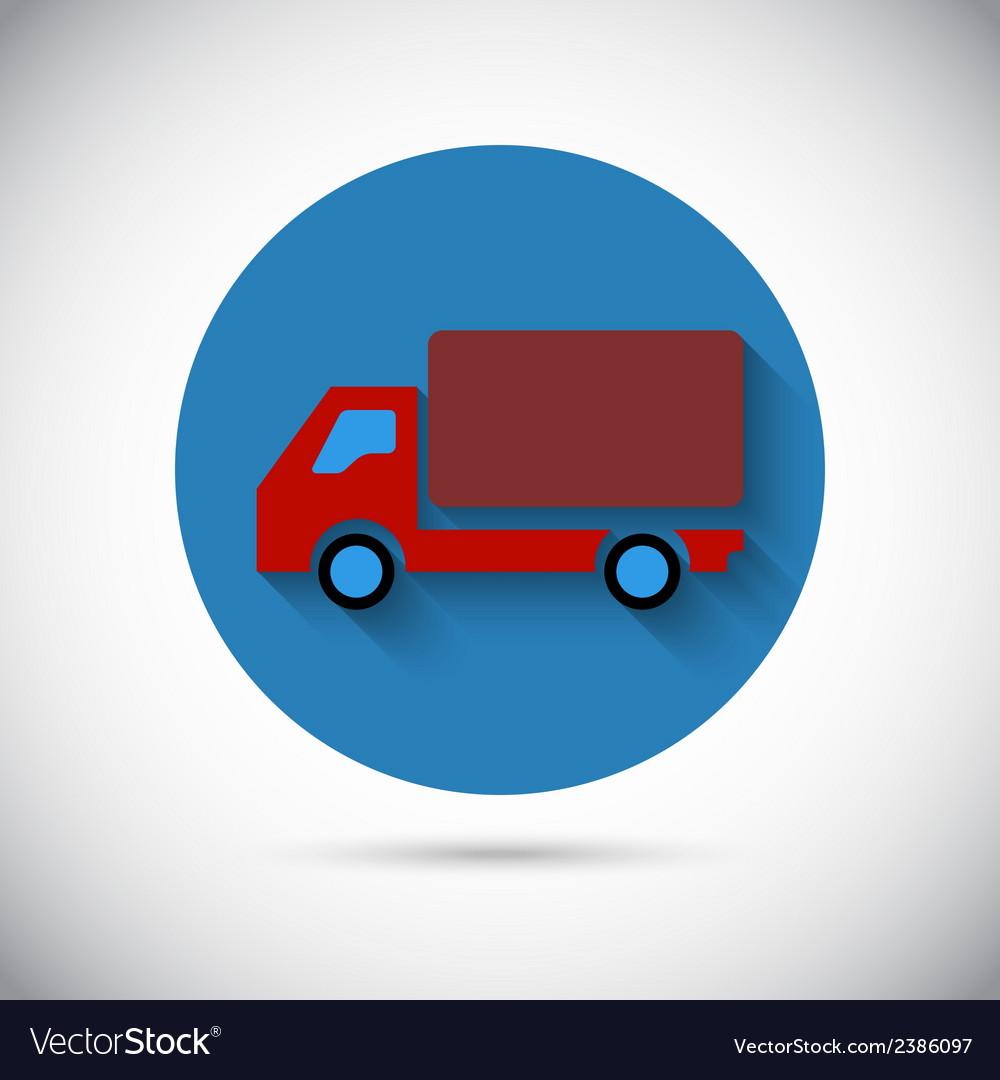 Delivery van car falt icon vector | Price: 1 Credit (USD $1)