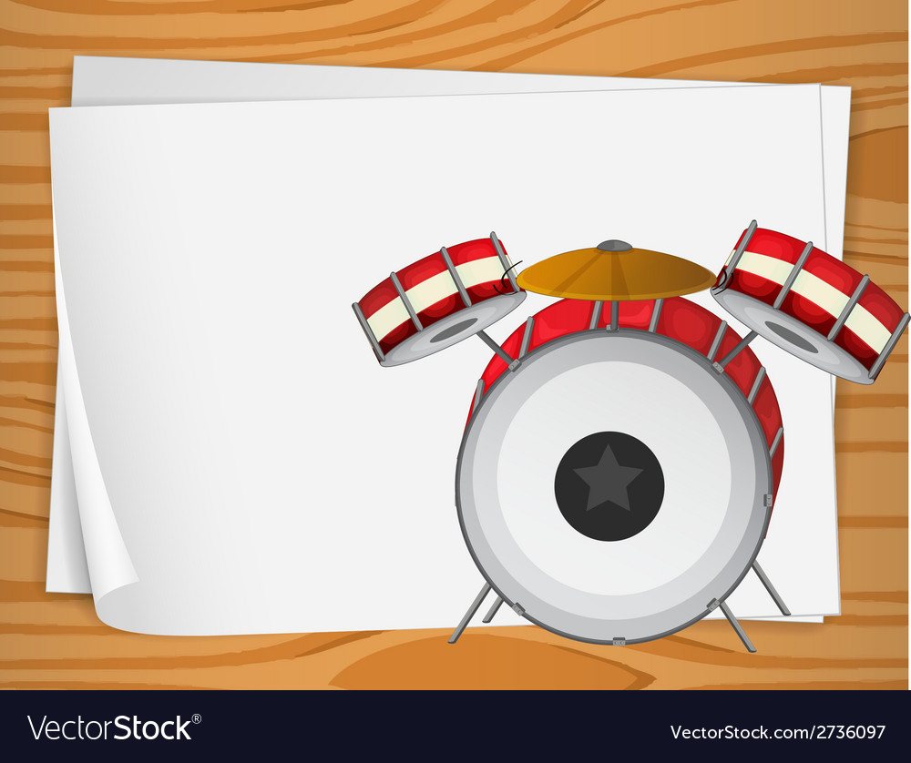 Empty bondpapers with drums vector | Price: 1 Credit (USD $1)