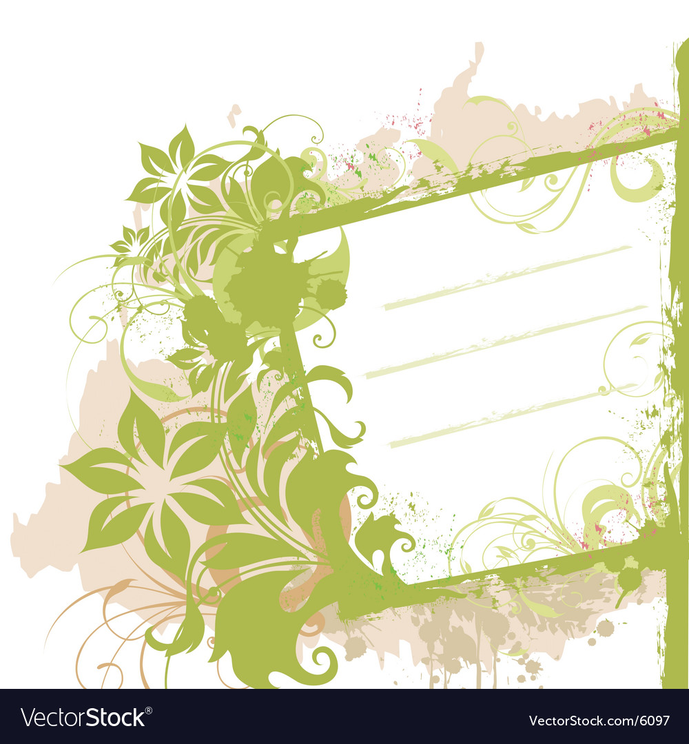 Floral grunge side banner vector | Price: 1 Credit (USD $1)