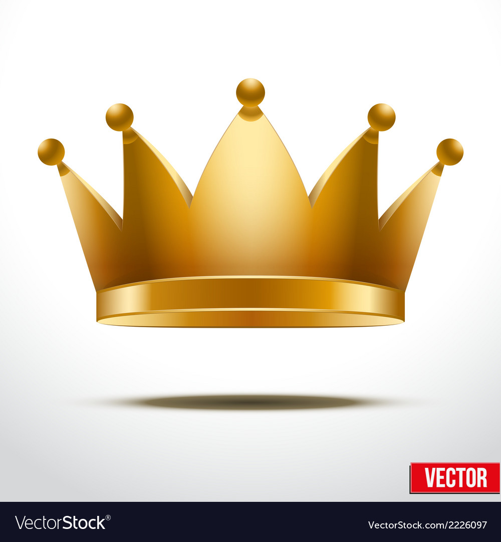 Gold classic crown vector | Price: 1 Credit (USD $1)