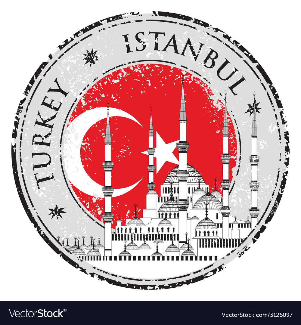 Grunge rubber stamp with words istanbul turkey vector | Price: 1 Credit (USD $1)
