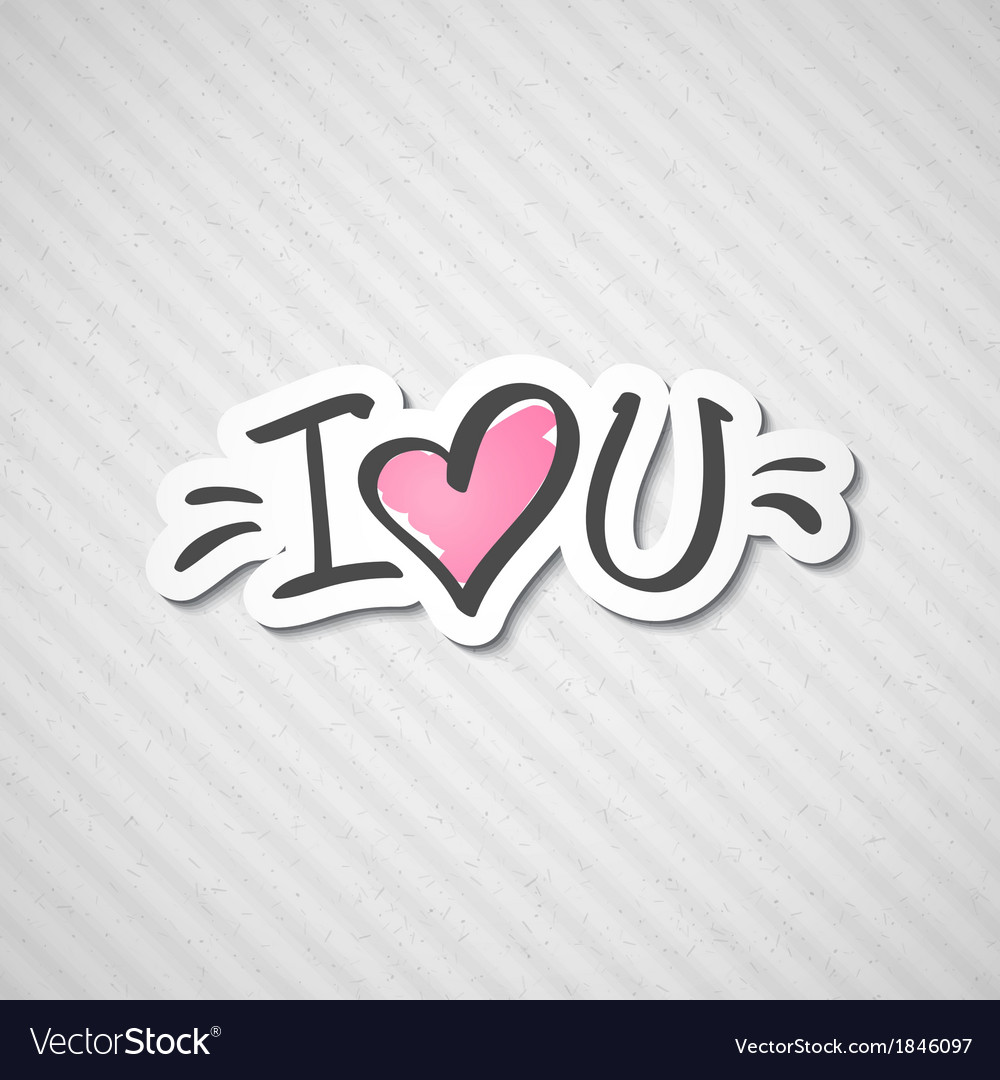 I love you text vector   Price: 1 Credit (USD $1)