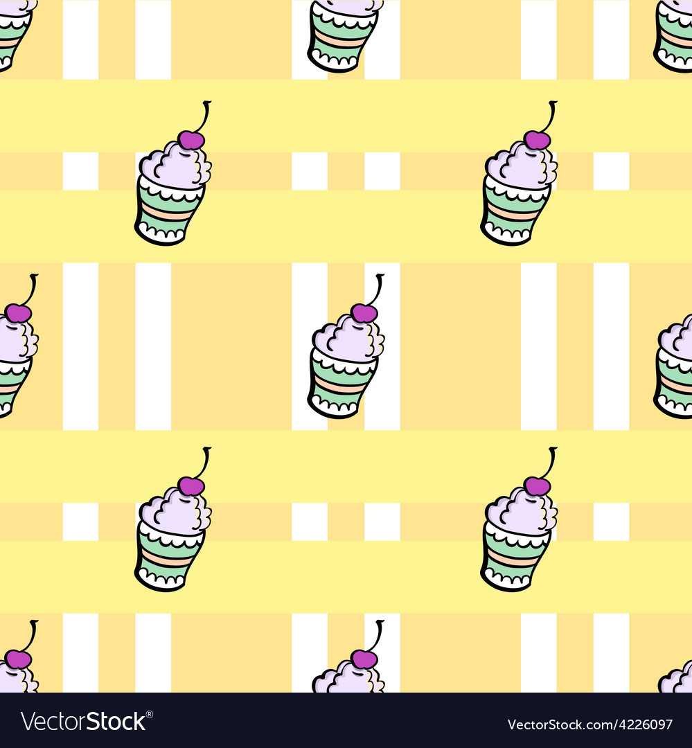 Ice cream pattern2 vector | Price: 1 Credit (USD $1)