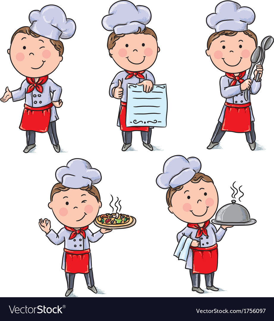 Kids chefs vector | Price: 1 Credit (USD $1)