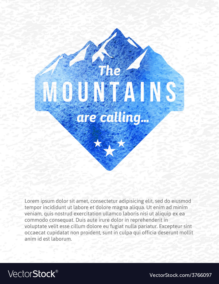 Mountain label vector | Price: 1 Credit (USD $1)