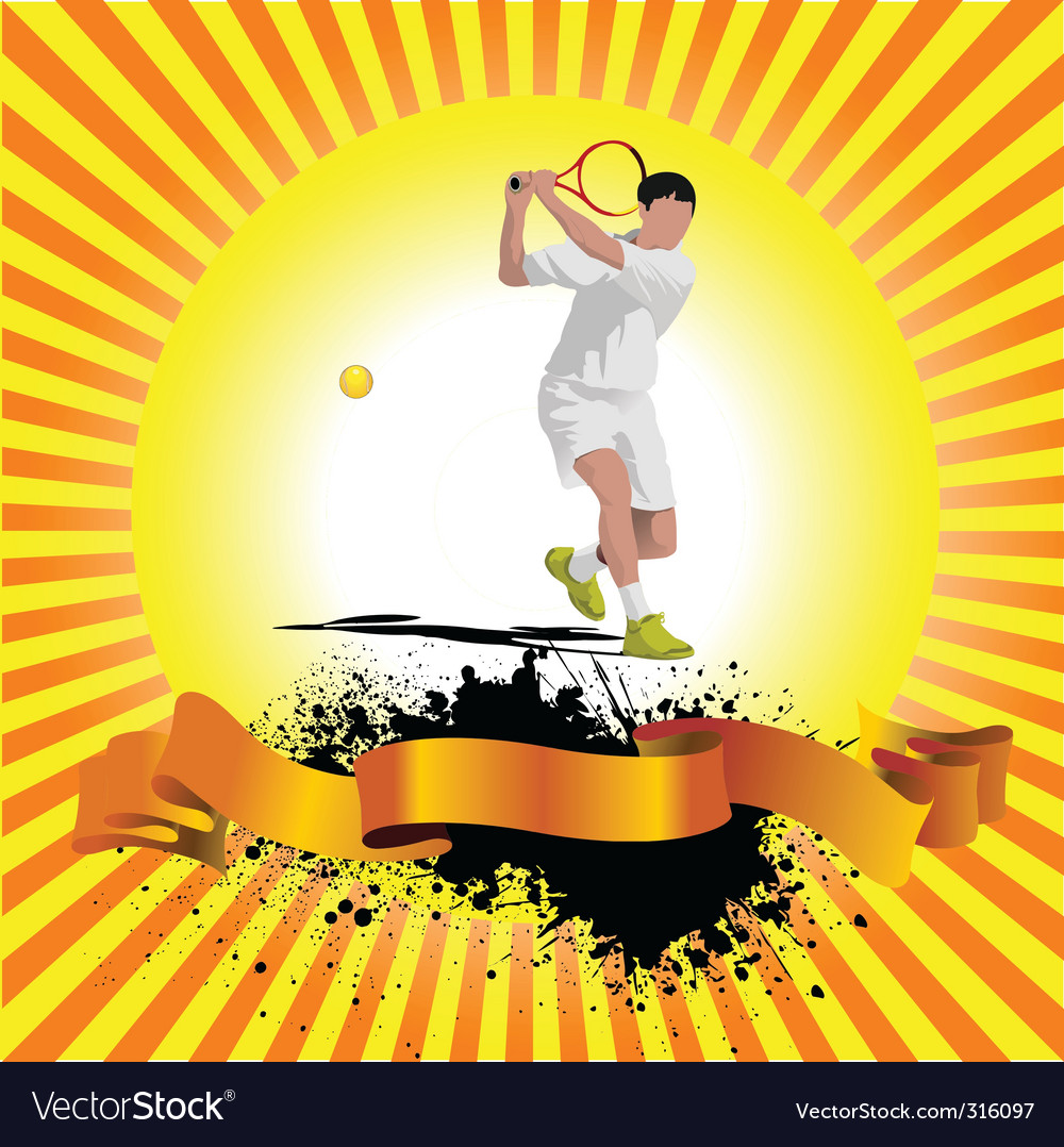 Poster tennis vector | Price: 1 Credit (USD $1)