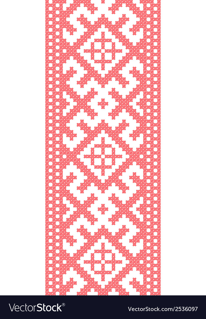 Russian embroidered pattern vector | Price: 1 Credit (USD $1)