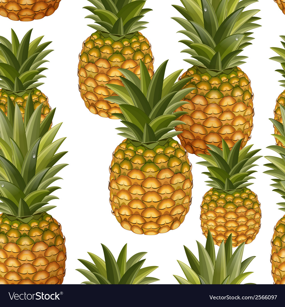 Seamless texture of pineapple vector | Price: 1 Credit (USD $1)