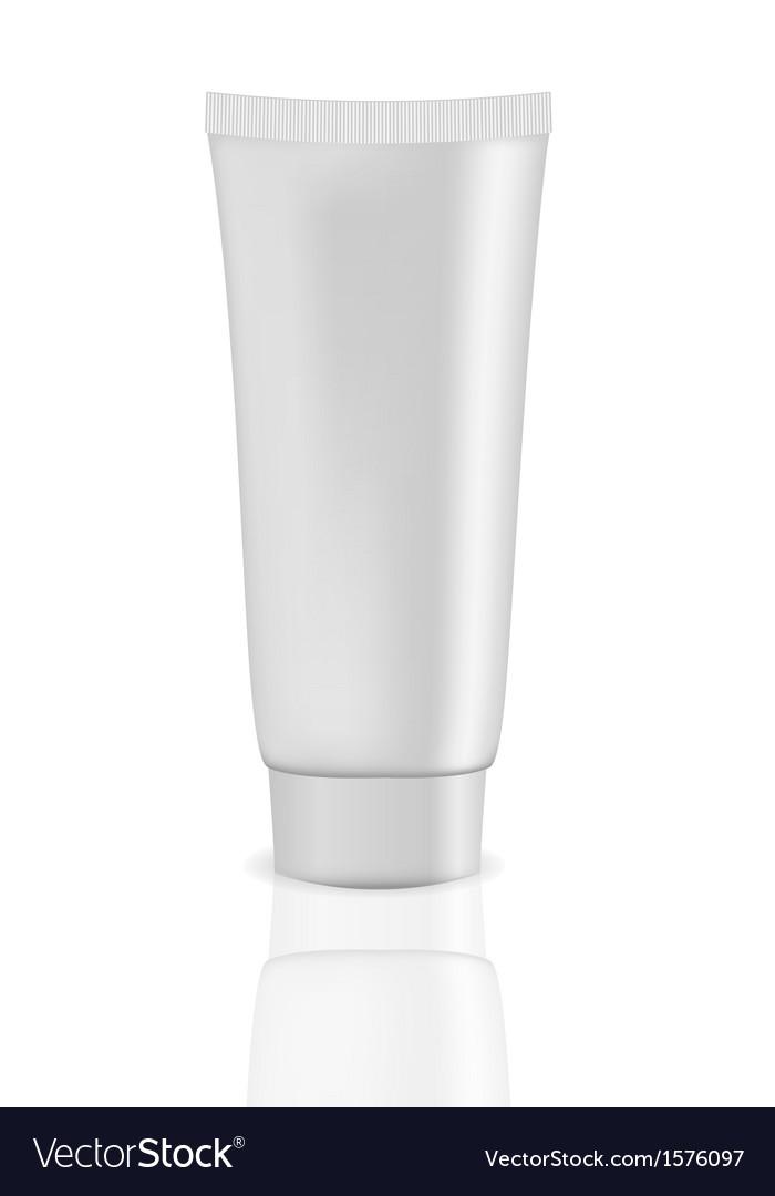 White cream tube vector | Price: 1 Credit (USD $1)