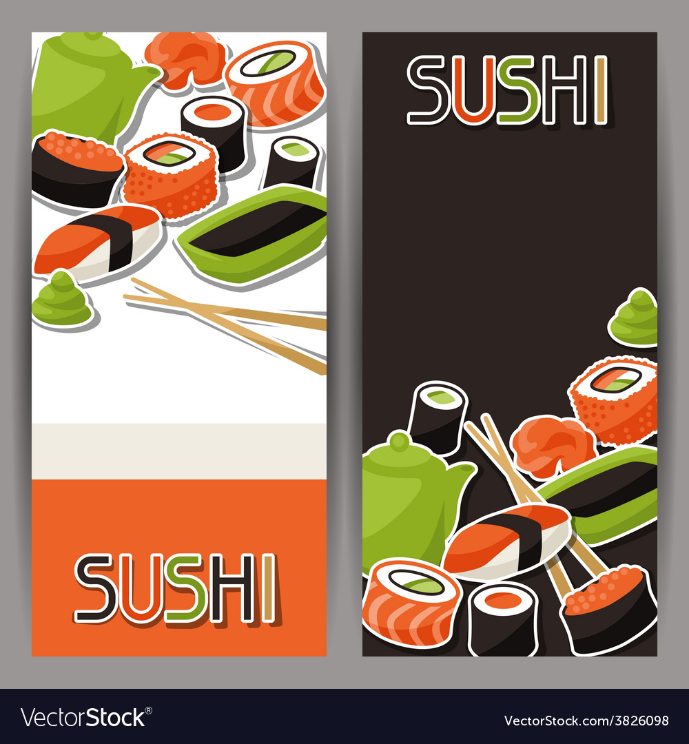 Banners with sushi vector | Price: 1 Credit (USD $1)