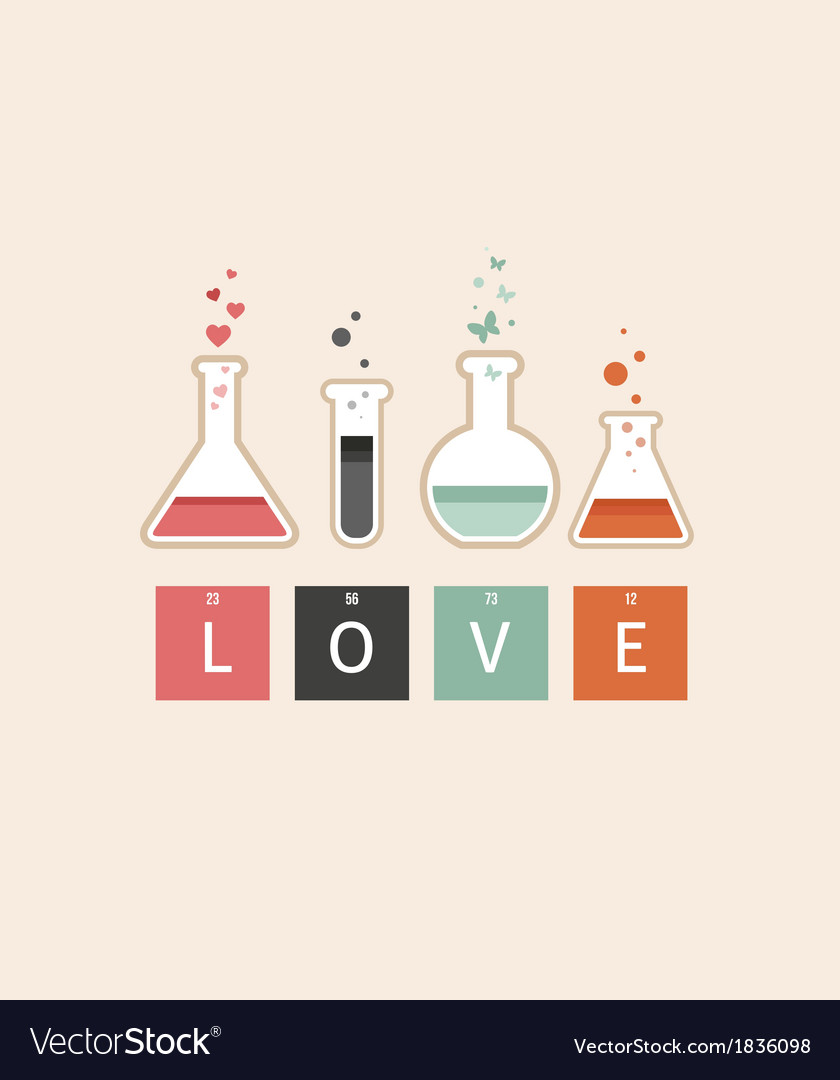 Chemistry of love vector | Price: 1 Credit (USD $1)