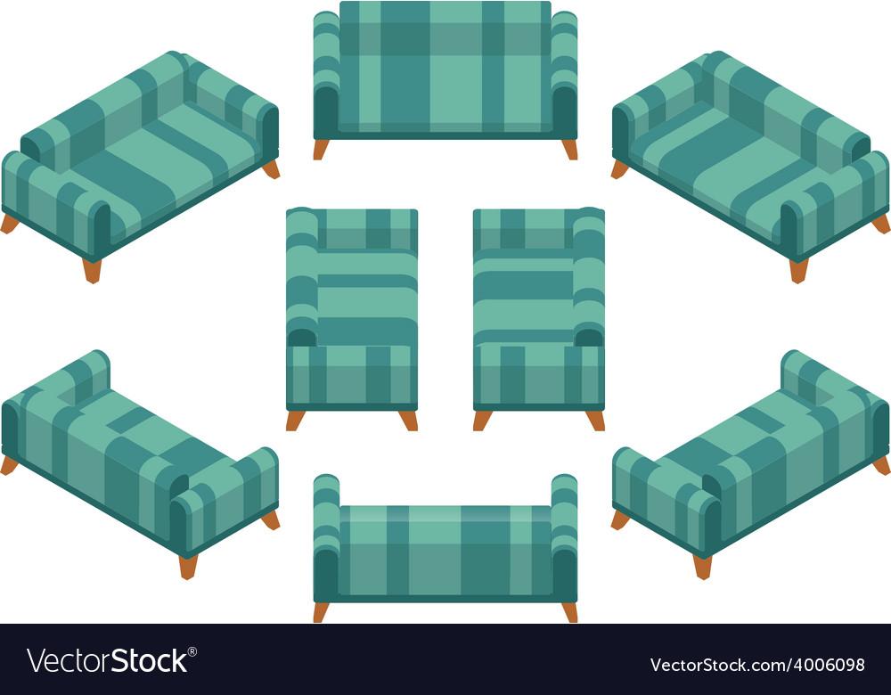 Isometric sofa vector | Price: 1 Credit (USD $1)