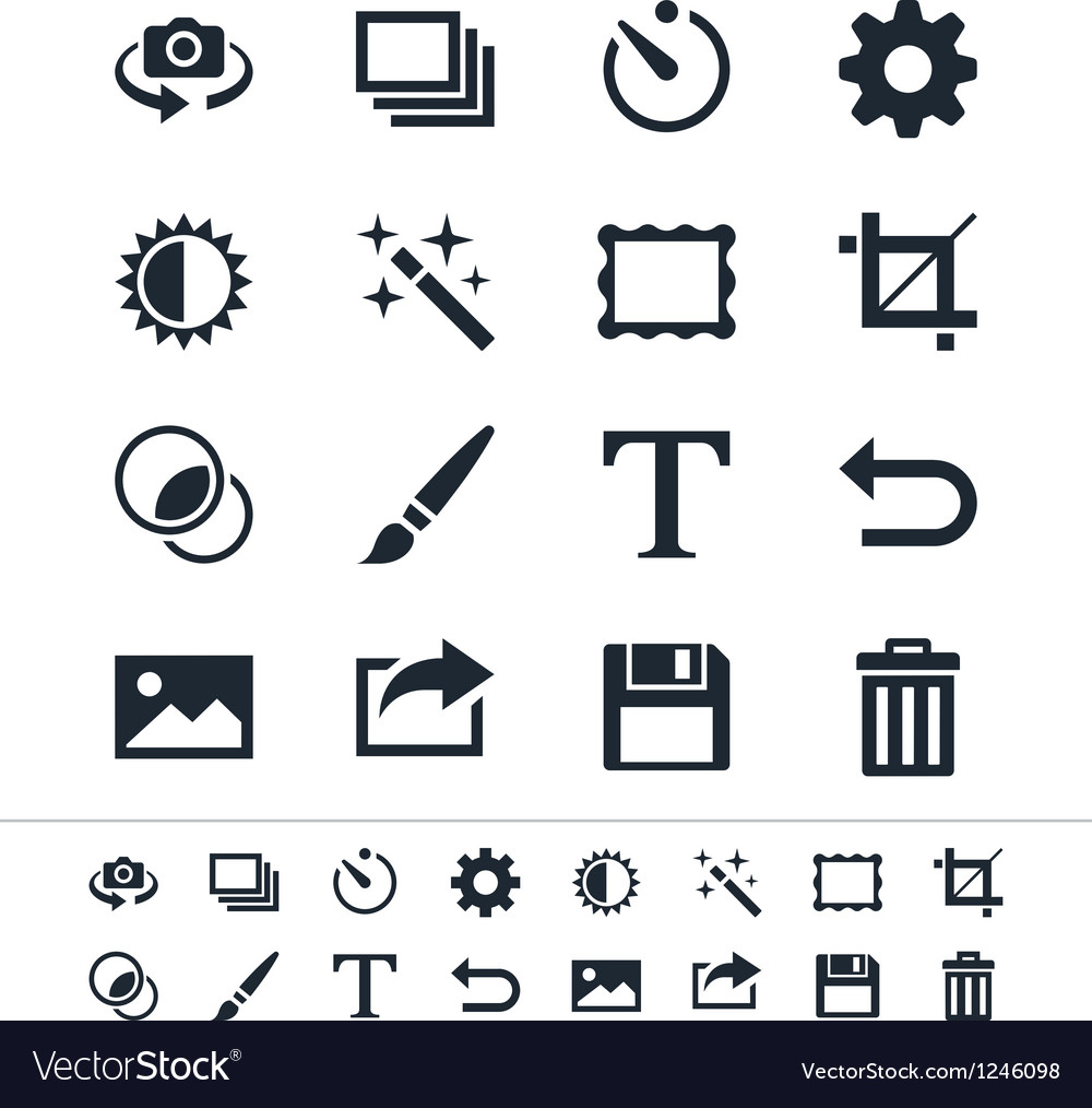 Photography icons vector | Price: 1 Credit (USD $1)