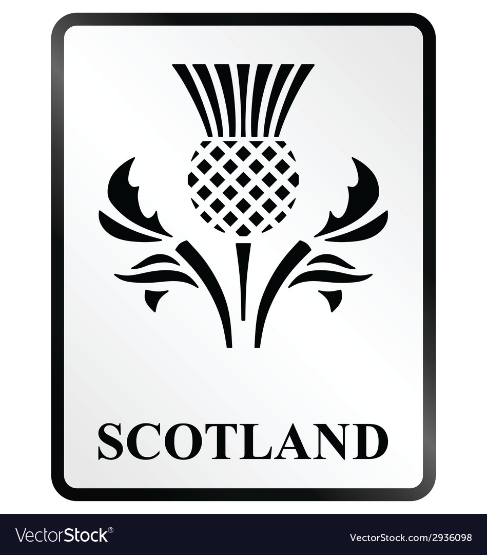 Scotland sign vector | Price: 1 Credit (USD $1)