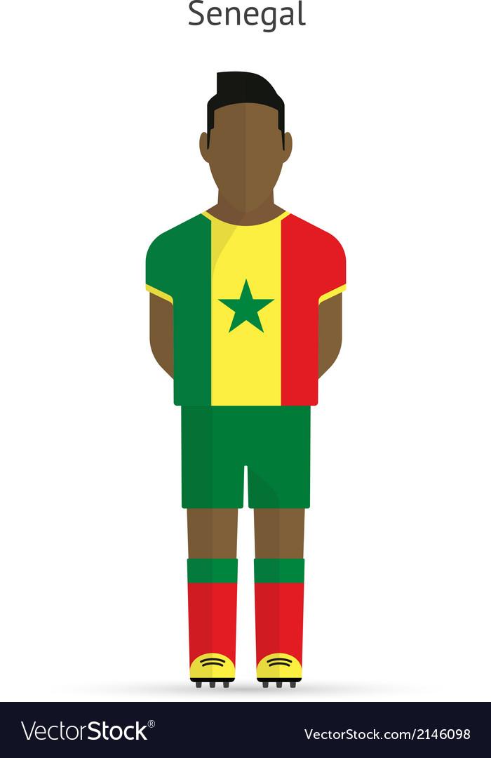 Senegal football player soccer uniform vector | Price: 1 Credit (USD $1)