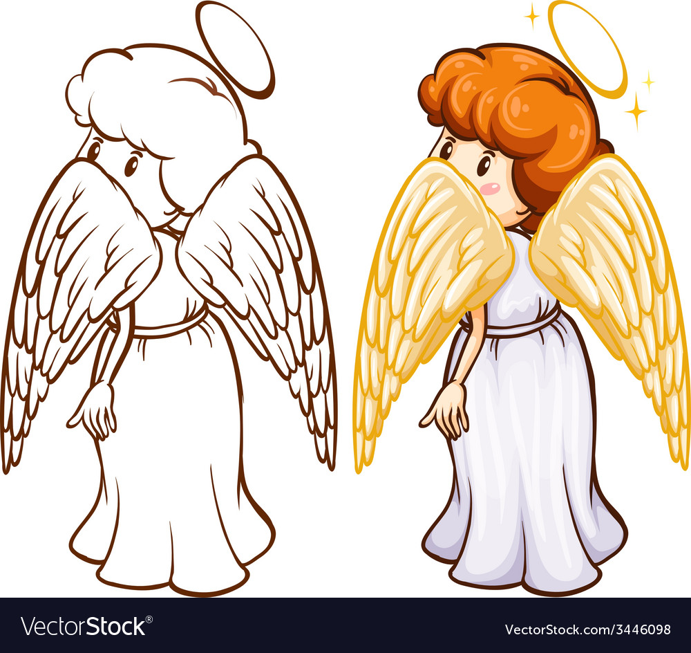 Two sketches of an angel vector | Price: 3 Credit (USD $3)