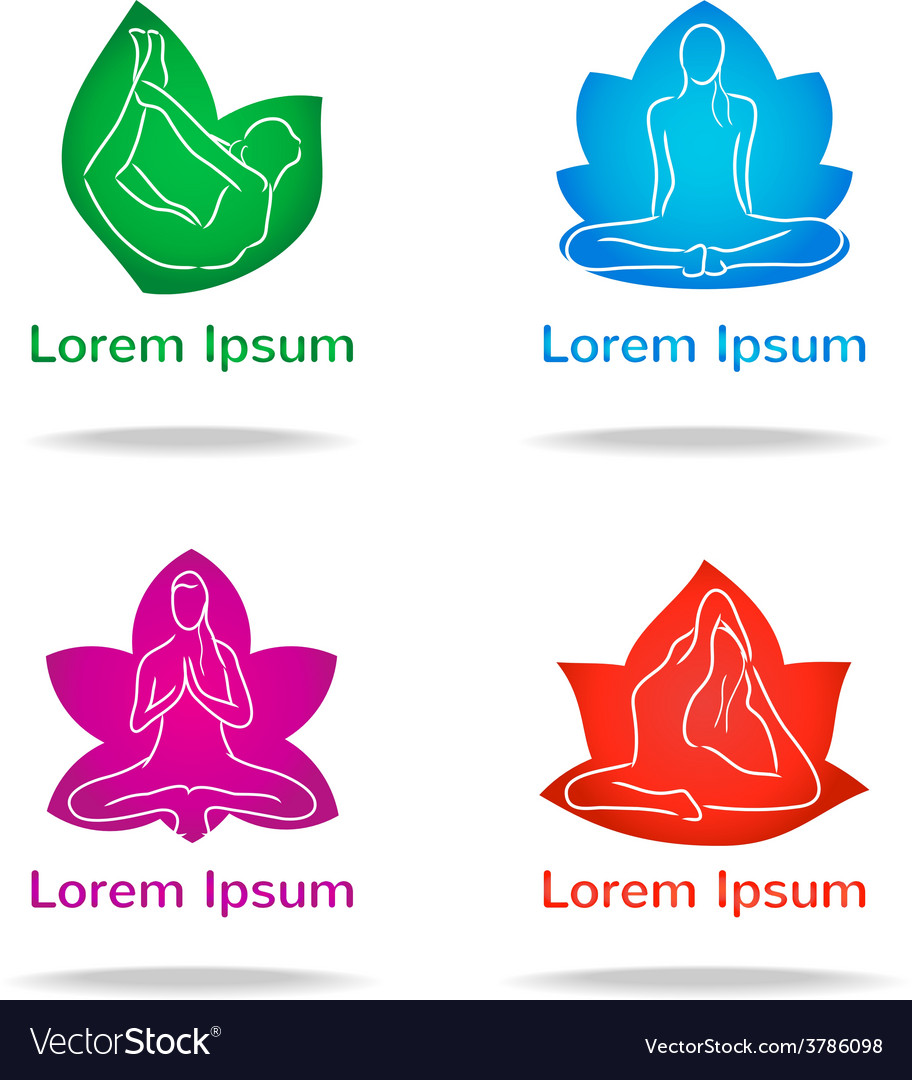 Yoga logo set vector | Price: 1 Credit (USD $1)