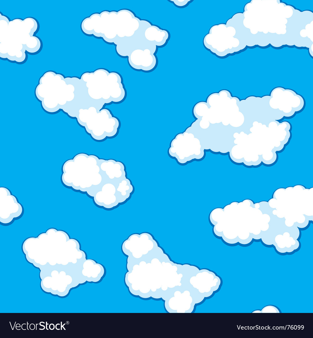 Abstract clouds background seamless vector   Price: 1 Credit (USD $1)