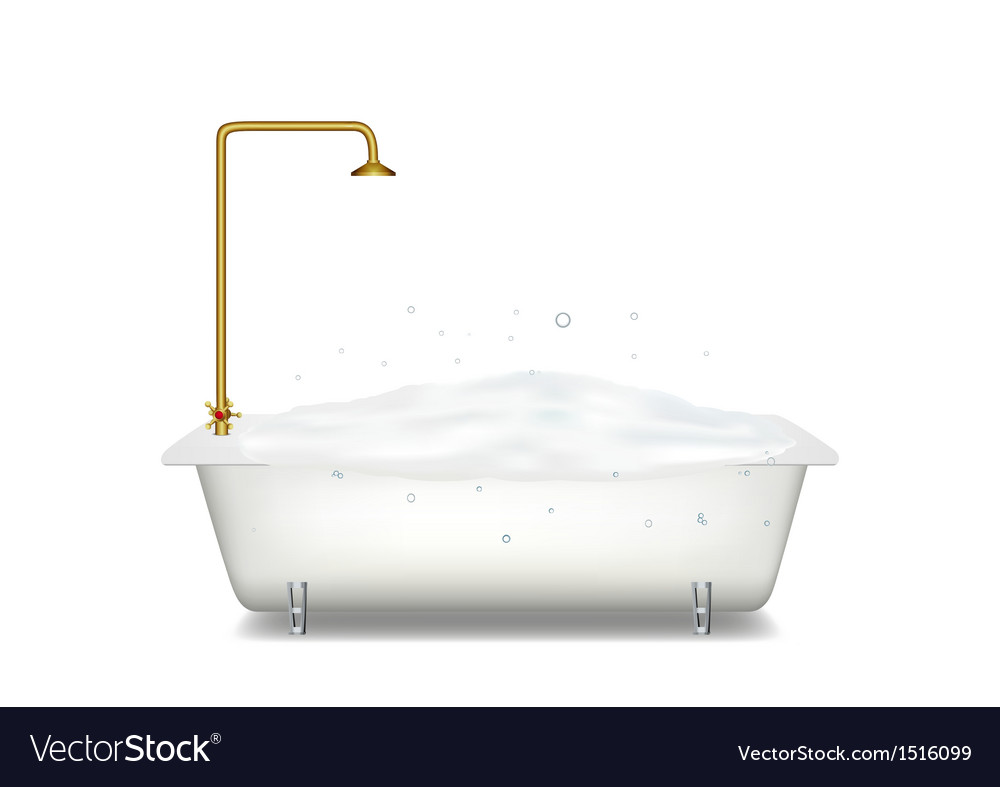 Bath with soap vector | Price: 1 Credit (USD $1)