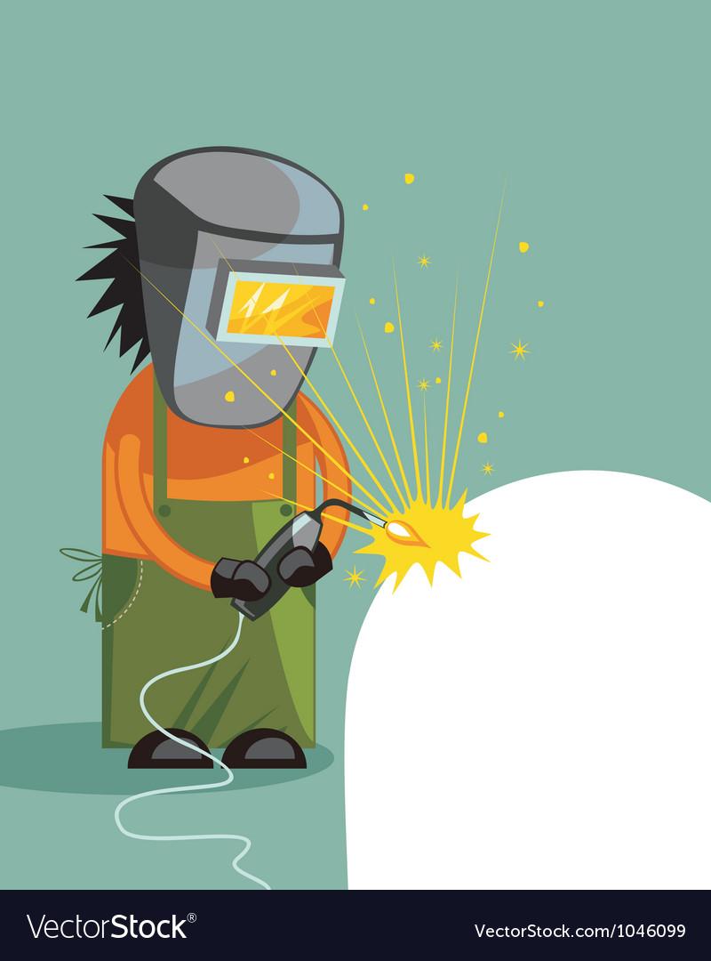 Cartoon of a welder vector | Price: 3 Credit (USD $3)