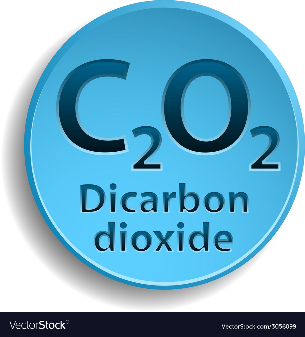 Dicarbon dioxide vector | Price: 1 Credit (USD $1)
