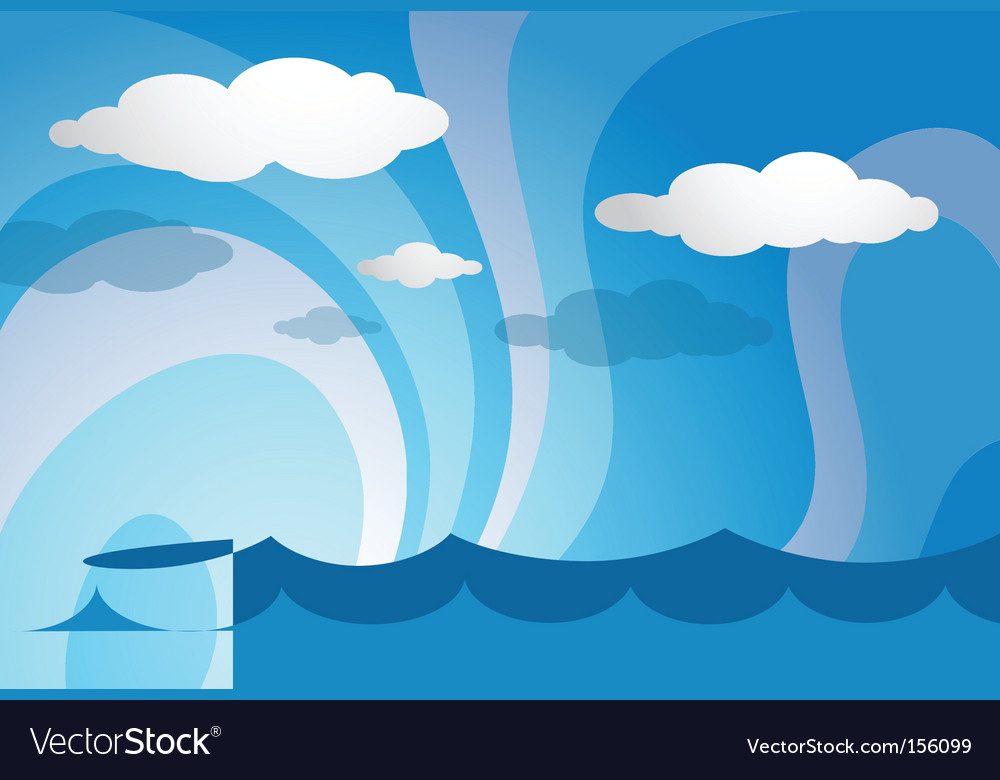 Ocean template vector | Price: 1 Credit (USD $1)