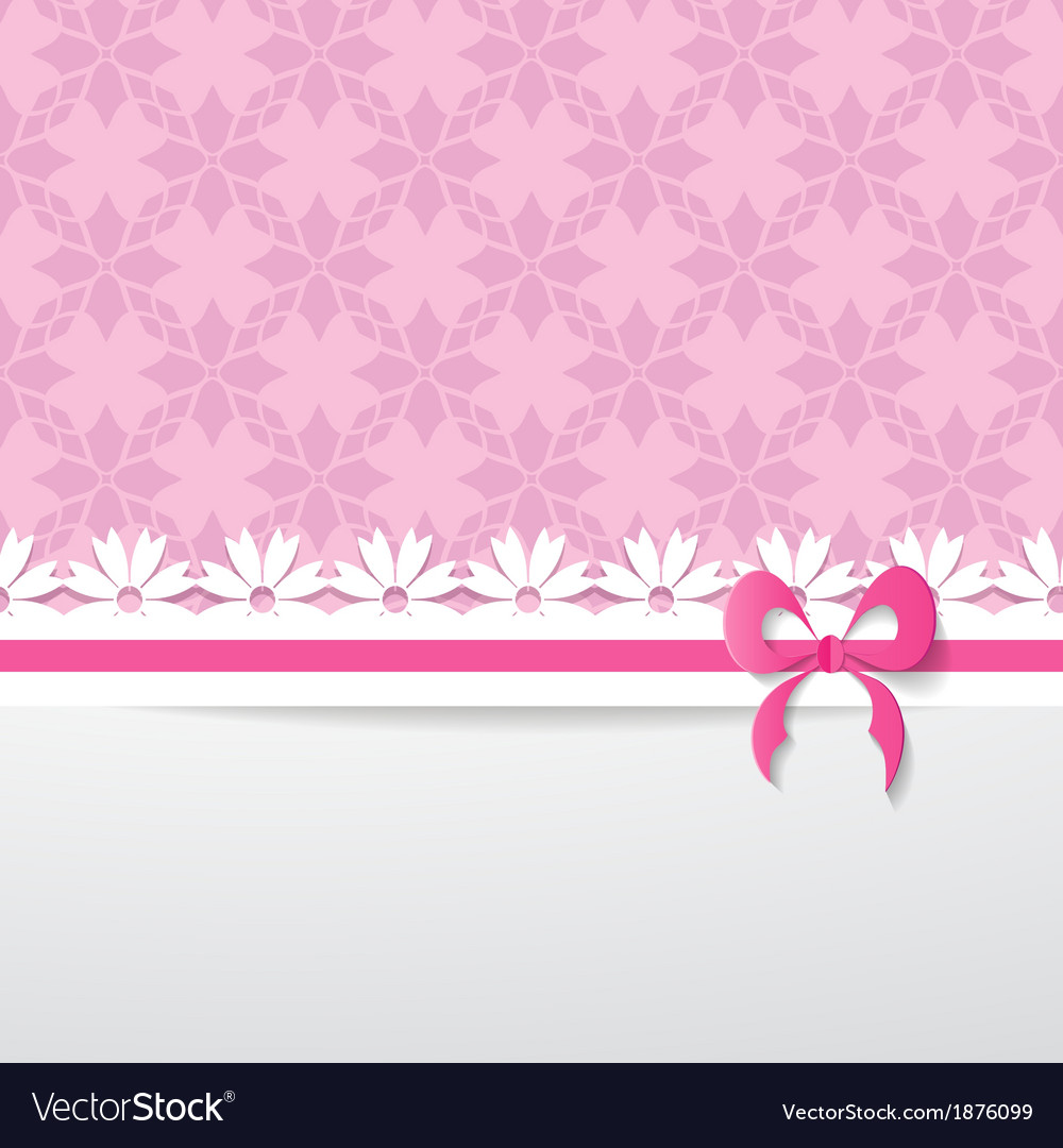 Pink greeting card vector | Price: 1 Credit (USD $1)