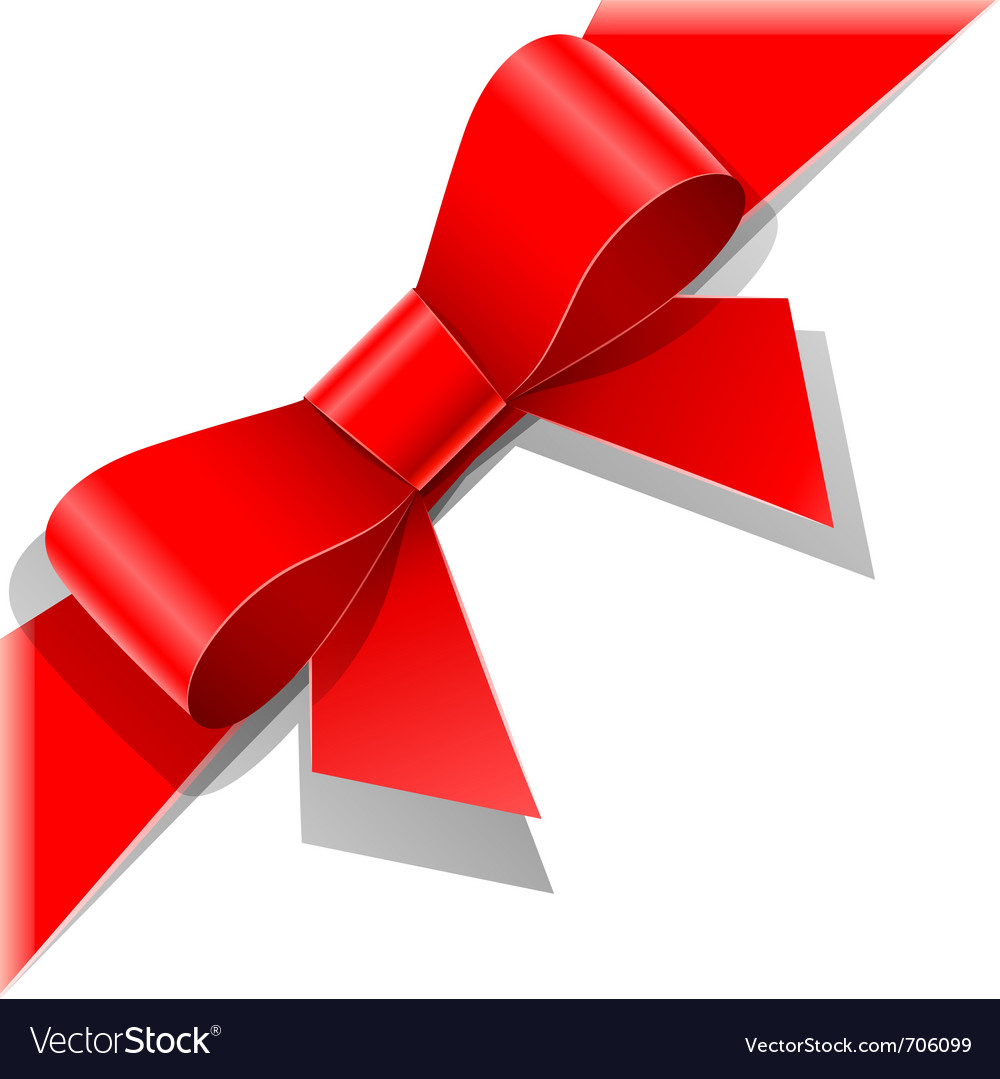 Red bow with ribbon vector | Price: 1 Credit (USD $1)