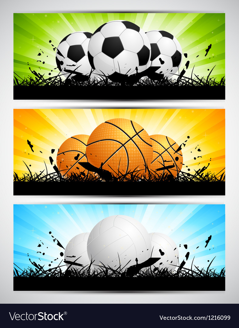 Set of banners with balls vector   Price: 3 Credit (USD $3)