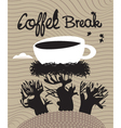 Coffee spring vector
